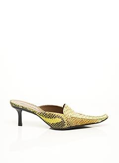 Mules/Sabots vert F.MODE pour femme