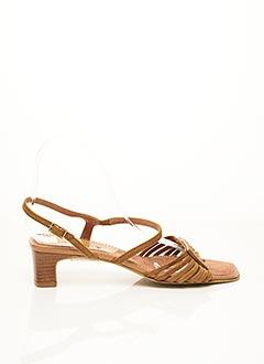 Sandales/Nu pieds marron COMMA, pour femme