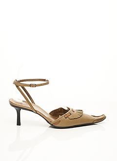 Sandales/Nu pieds vert F.MODE pour femme