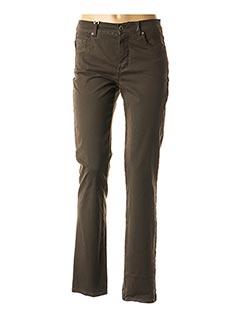 Jeans coupe slim vert ANNA MONTANA pour femme