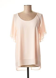 T-shirt manches courtes rose COULEURS DU TEMPS pour femme