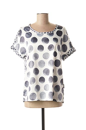 T-shirt manches courtes gris CAPUCCINO pour femme