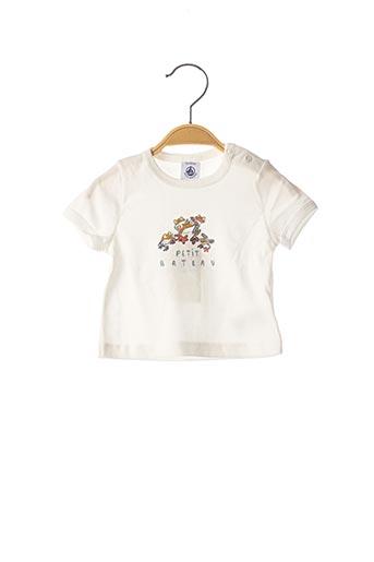 T-shirt manches courtes blanc PETIT BATEAU pour enfant