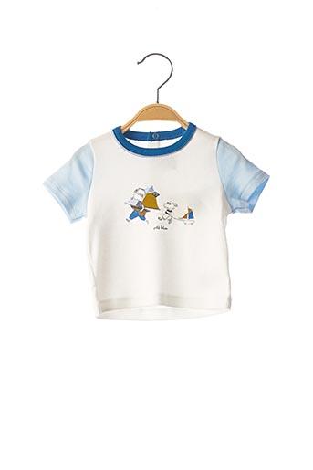 T-shirt manches courtes blanc PETIT BATEAU pour garçon