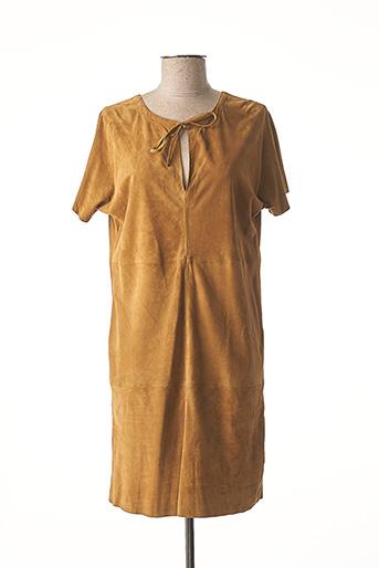 Robe courte marron GIORGIO & MARIO pour femme