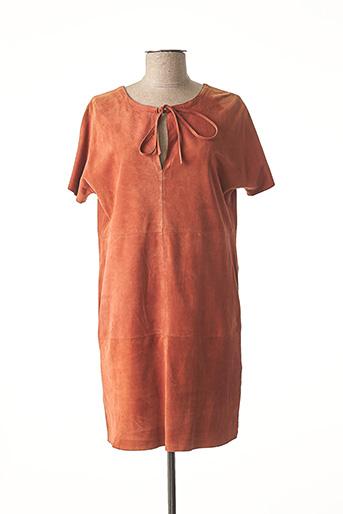 Robe courte orange GIORGIO & MARIO pour femme