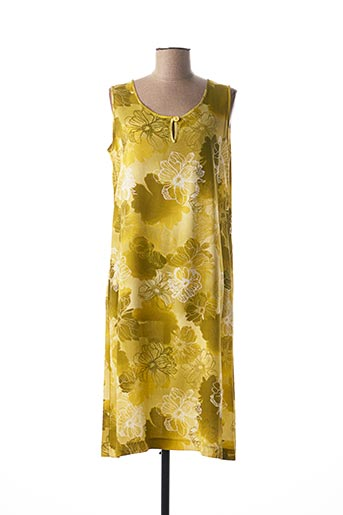 Robe mi-longue vert EGATEX pour femme