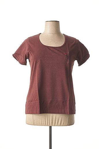 T-shirt manches courtes marron ACHEL pour femme