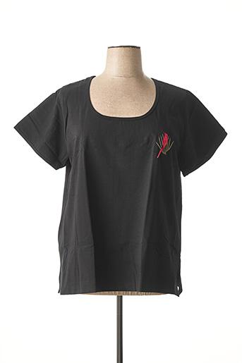 T-shirt manches courtes noir ACHEL pour femme