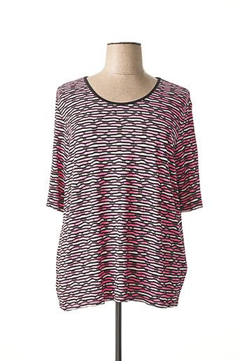 T-shirt manches courtes rose LEBEK pour femme