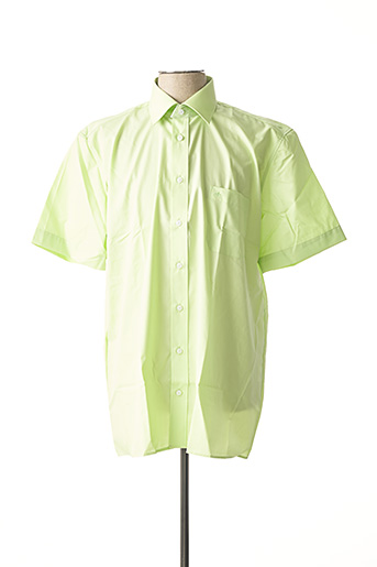 Chemise manches courtes vert JUPITER pour homme