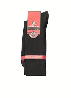 Chaussettes noir LABONAL pour homme