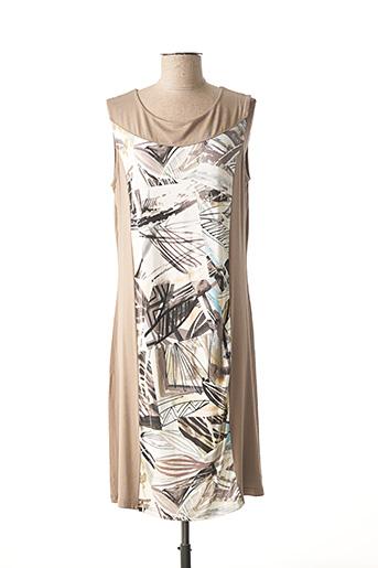 Robe mi-longue beige I.ODENA pour femme