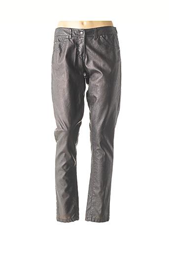 Pantalon casual noir POUSSIERE D'ETOLE pour femme
