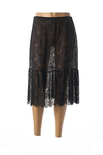 Jupon /Fond de robe noir POUSSIERE D'ETOLE pour femme