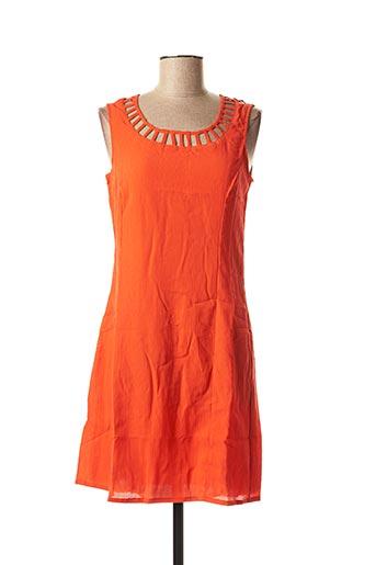 Tunique manches courtes orange VIRGINIE & MOI pour femme