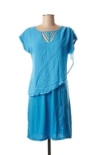 Robe mi-longue bleu VIRGINIE & MOI pour femme