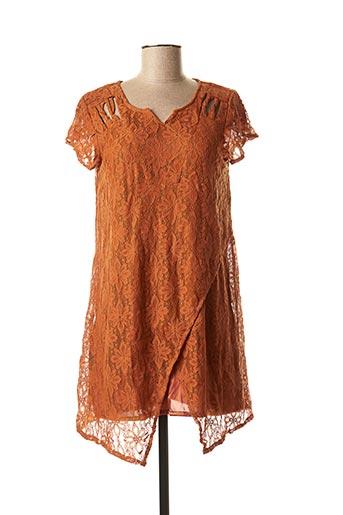 Robe mi-longue marron VIRGINIE & MOI pour femme