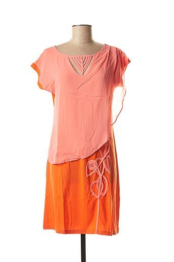 Robe mi-longue rose VIRGINIE & MOI pour femme