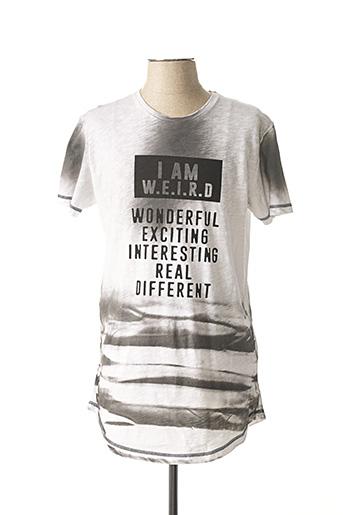 T-shirt manches courtes gris CLUB JU PARIS pour homme
