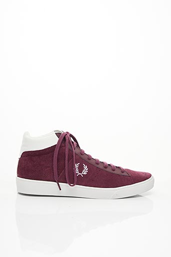 Baskets rouge FRED PERRY pour homme