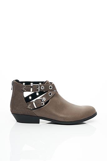 Bottines/Boots gris CHOCOLATE SCHUBAR pour femme