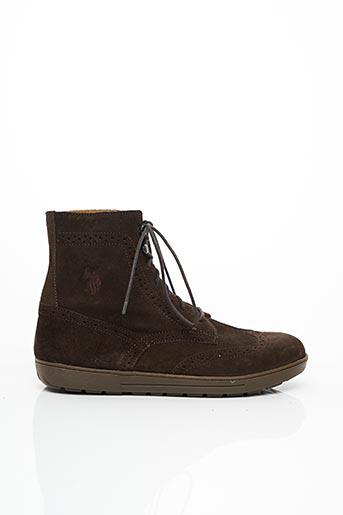 Bottines/Boots marron U.S. POLO ASSN pour homme