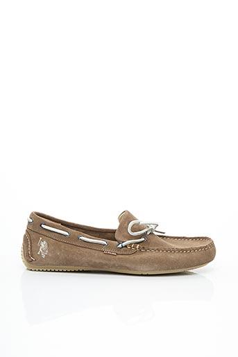 Chaussures bâteau beige U.S. POLO ASSN pour homme