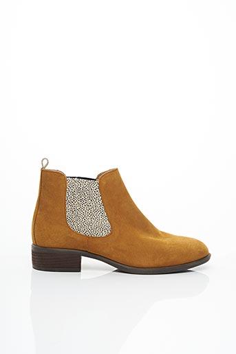 Bottines/Boots jaune ALIWELL pour femme