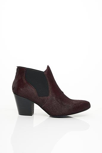 Bottines/Boots rouge COPENHAGEN pour femme