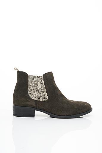 Bottines/Boots vert ALIWELL pour femme
