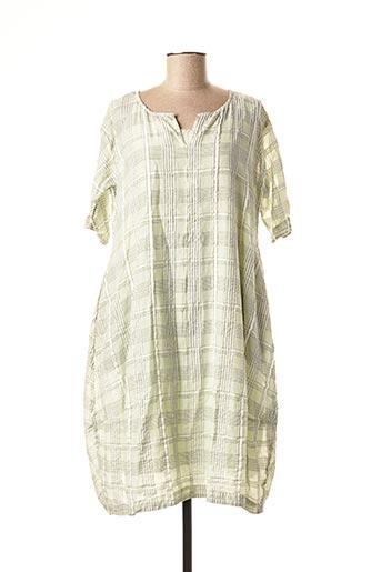 Robe mi-longue vert GRIZAS pour femme