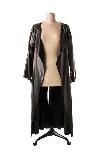 Veste simili cuir noir MAT. pour femme