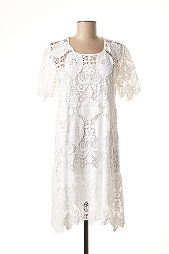 Robe courte blanc VALERIE KHALFON pour femme
