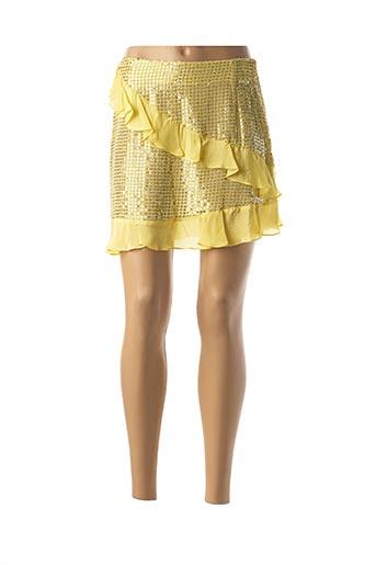 Jupe courte jaune VALERIE KHALFON pour femme