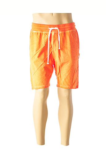 Bermuda orange FRENCH TERRY pour homme