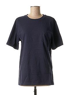 T-shirt manches courtes bleu APUNTOB pour femme