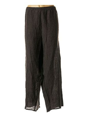 Pantalon casual gris BARBARA LANG pour femme