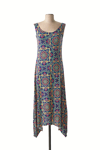 Robe longue bleu DIPAWALI pour femme