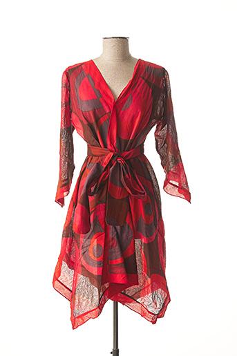 Robe mi-longue rouge DIPAWALI pour femme