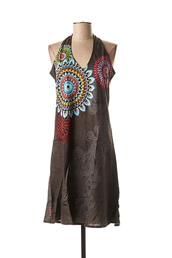 Robe mi-longue gris DIPAWALI pour femme