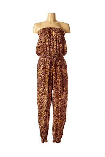 Combi-pantalon marron DIPAWALI pour femme