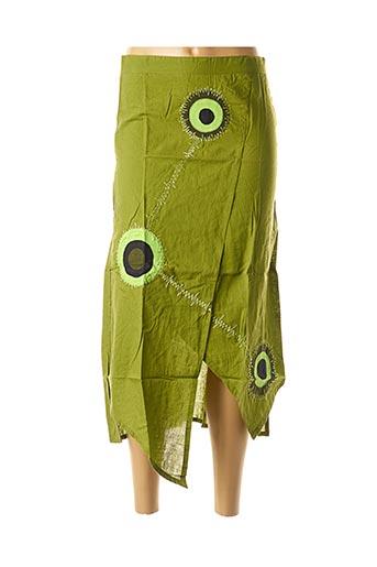 Jupe mi-longue vert DIPAWALI pour femme