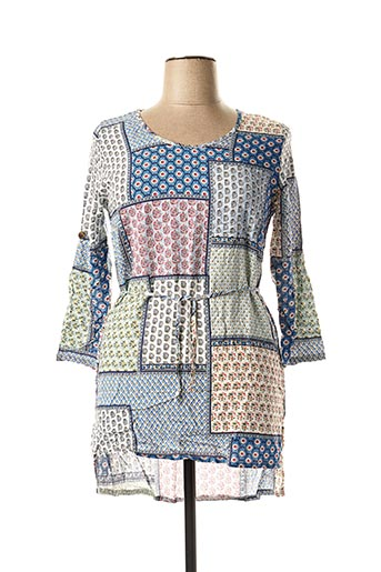 Robe courte bleu DIPAWALI pour femme