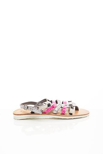 Sandales/Nu pieds rose LES SPARTIATES PHOCEENNES pour fille