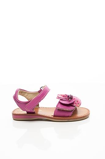 Sandales/Nu pieds violet NOËL pour fille