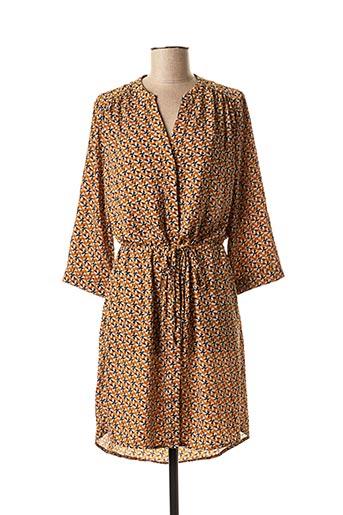 Robe courte marron CHATTAWAK pour femme