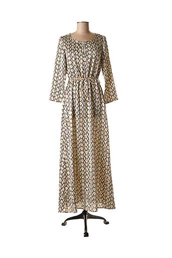 Robe mi-longue beige FRIME pour femme