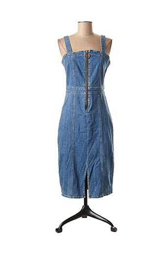Robe mi-longue bleu BSB pour femme