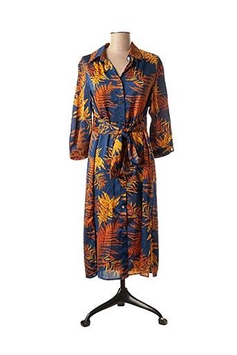 Robe mi-longue bleu FRIME pour femme